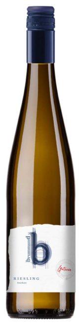 Weinflasche Riesling Gutswein Weingut Brummund Rheinhessen