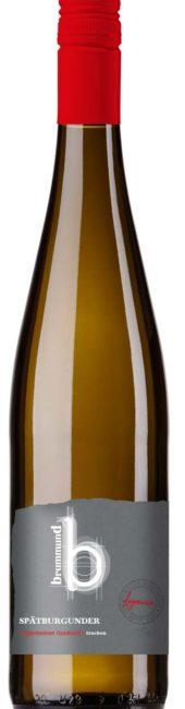 Weinflasche Lagenwein Weingut Brummund Spätburgunder Jugenheimer Goldberg