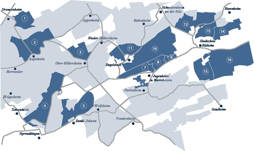 Lagenkarte Weingut Brummund Rheinhessen